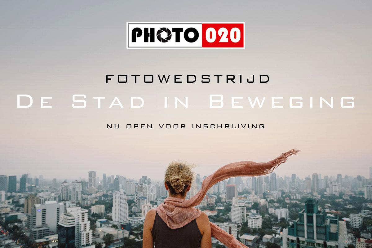 fotowedstrijd banner stad in beweging